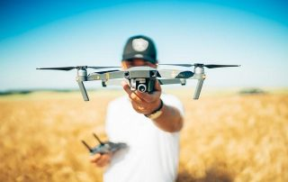 Focus photography of a drone